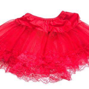 Kids Girls Red Tutu Skirt